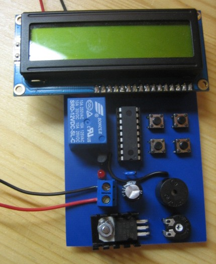 UV LED Controller using a PIC 16F628A Microcontroller
