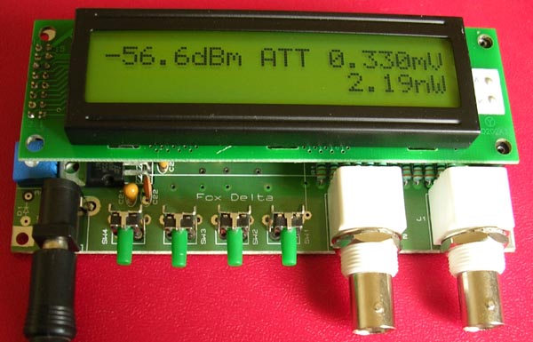 0-500MHz PIC16F876 RF Power Meter