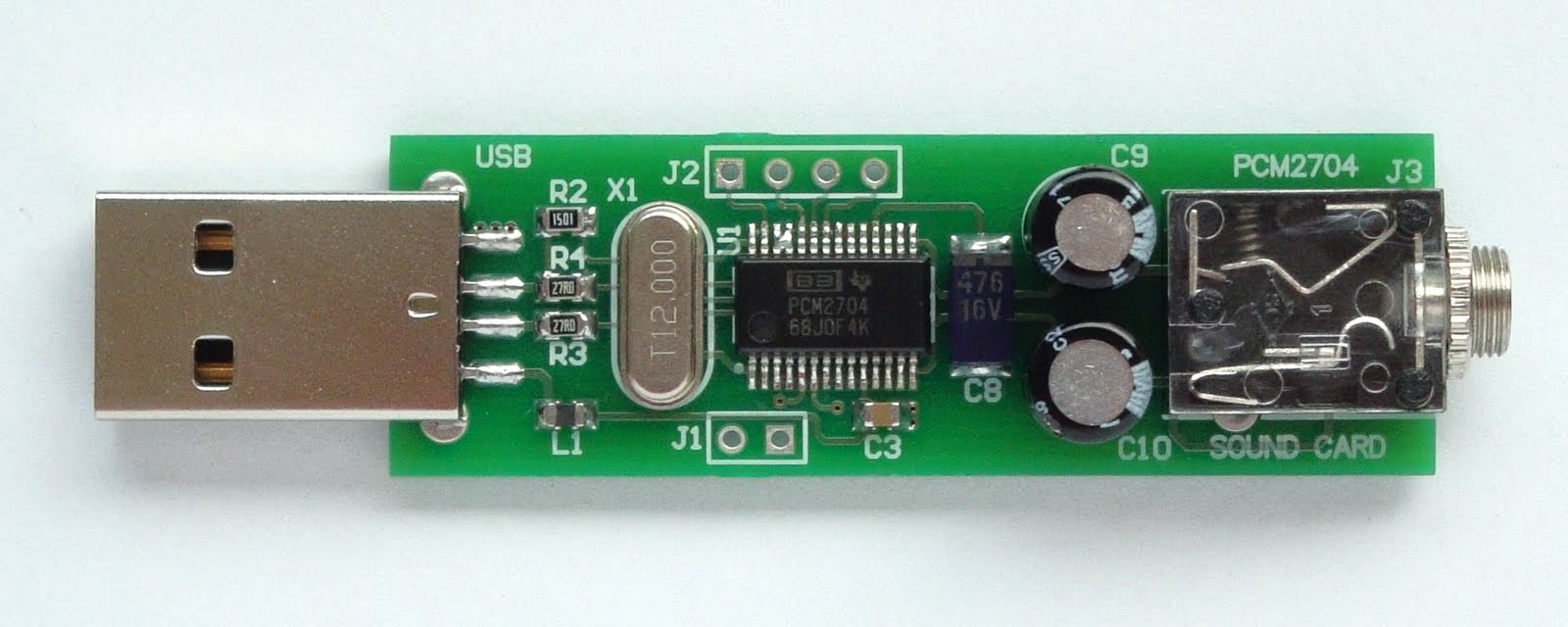 Make a Sound Card with PCM2704
