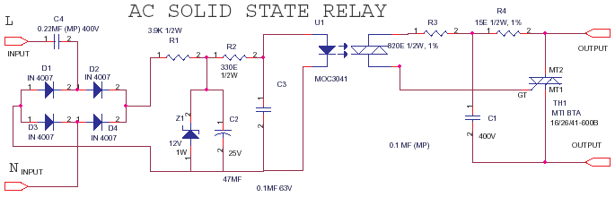 AC-AC Solid State Relay or SSR