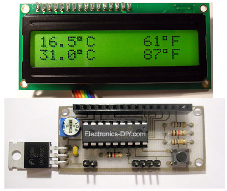 DS18S20 Dual Temperature Meter