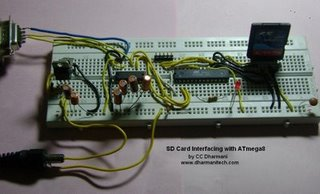 SD Card Interfacing with ATmega8 (FAT32 implementation)